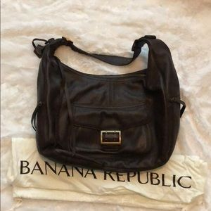 Leather Banana Republic Hobo Purse